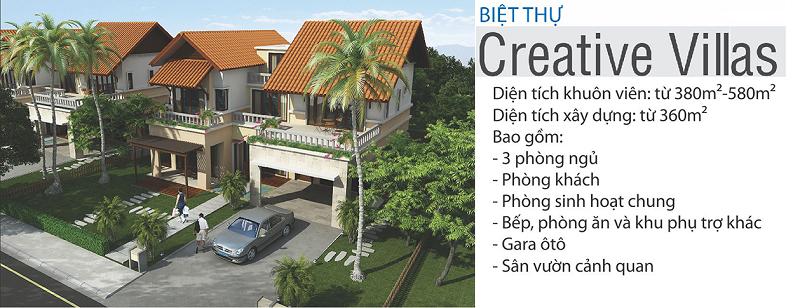 Phối cảnh biệt thự Creative Xanh Villas Resort Hòa Lạc
