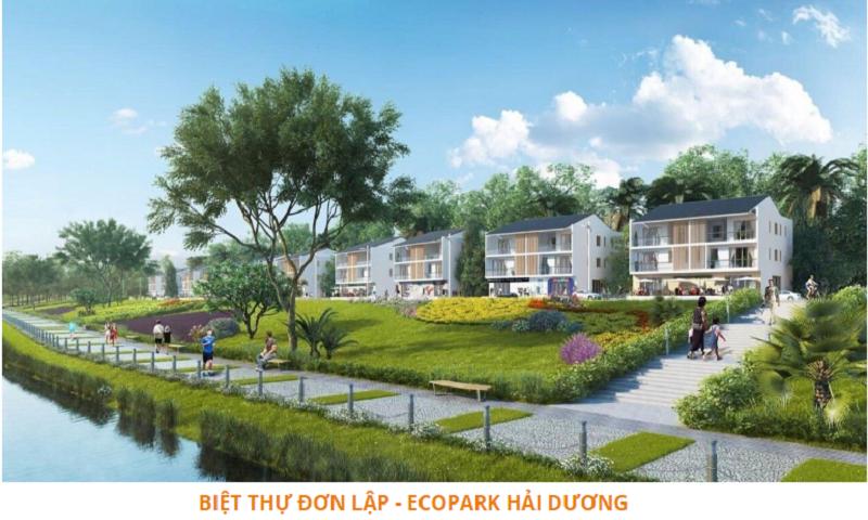 Phối cảnh biệt thự đơn lập dự án Ecoriver Hải Dương Ecopark
