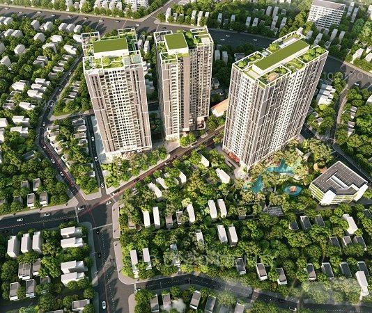 Phối cảnh dự án Feliz Homes Hoàng Văn Thụ - Hoàng Mai