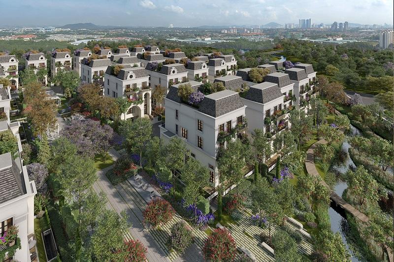 Phối cảnh dự án Le Jardin Garden Villas Parc 57 Park City Hà Đông
