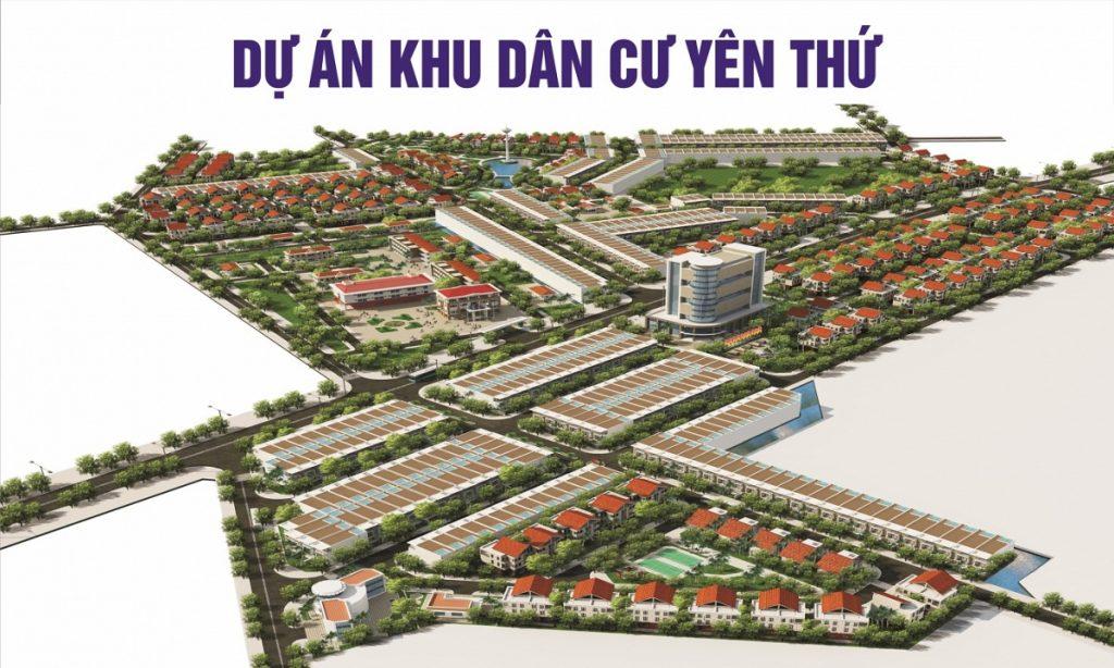Phối cảnh khu dân cư Yên Thứ - Phổ Yên - Thái Nguyên