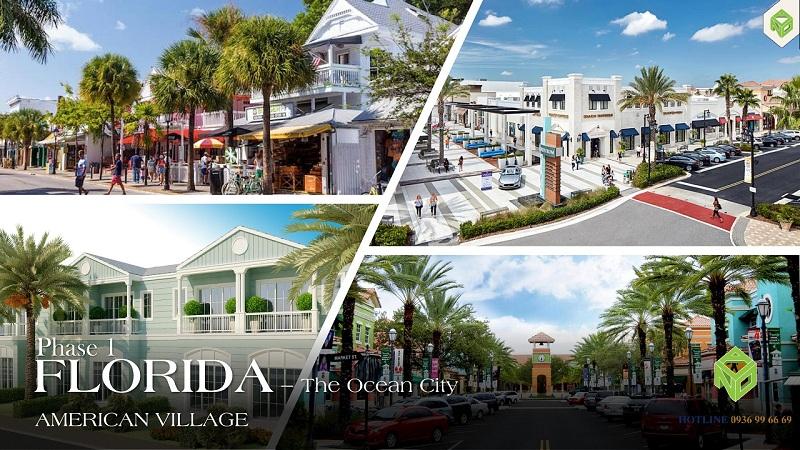 Phối cảnh phân khu Florida dự án Novaworld Phan Thiết - Bình Thuận