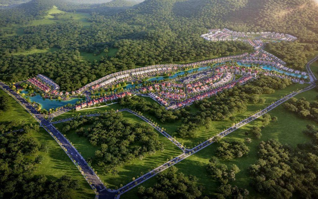 Phối cảnh tổng thể dự án Xanh Villas - Thạch Thất 2021