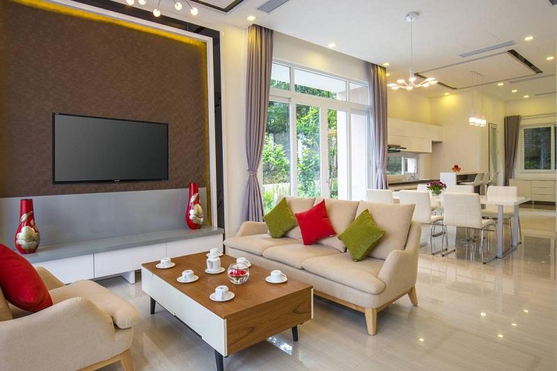 Phòng khách biệt thự Xanh Villas Resort Hòa Lạc