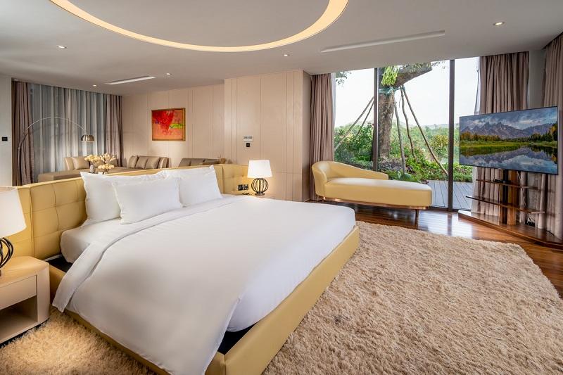 Phòng ngủ 2 dinh thự Legend Mansion Flamingo Đại Lải Resort