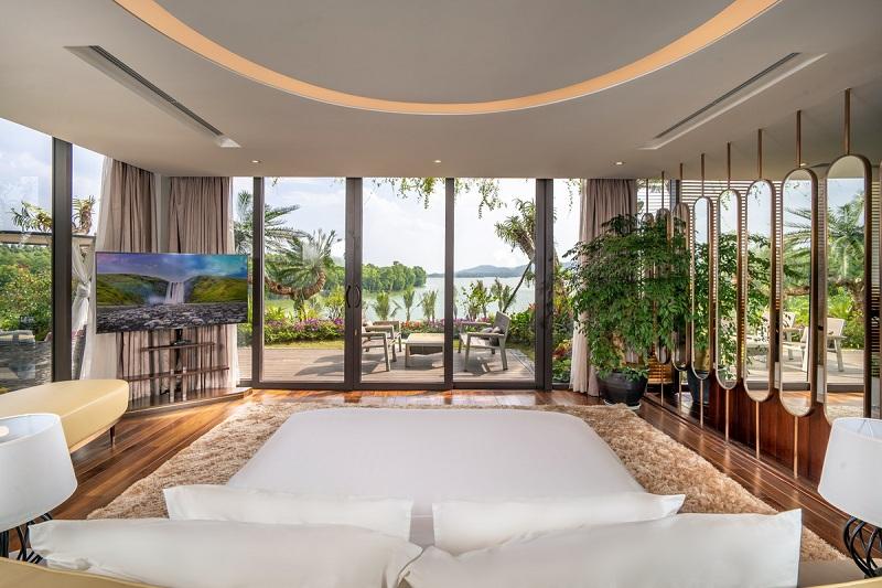 Phòng ngủ 3 dinh thự Legend Mansion Flamingo Đại Lải Resort
