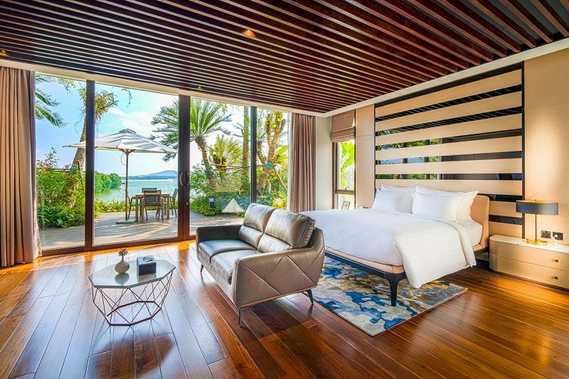 Phòng ngủ 4 dinh thự Legend Mansion Flamingo Đại Lải Resort