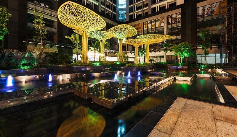 Quảng trường nước dự án Goldmark City 136 Hồ Tùng Mậu