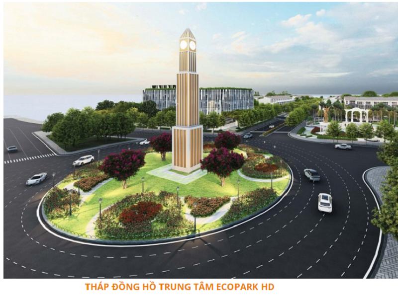 Quảng trường trung tâm dự án Ecoriver Hải Dương Ecopark