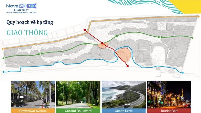 Quy hoạch hạ tầng dự án Novaworld Phan Thiết - Bình Thuận