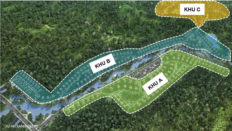 Quy hoạch phân khu dự án Xanh Villas Hòa Lạc