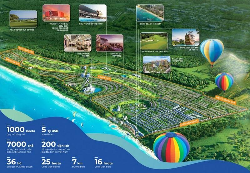 Quy mô dự án Novaworld Phan Thiết - Bình Thuận