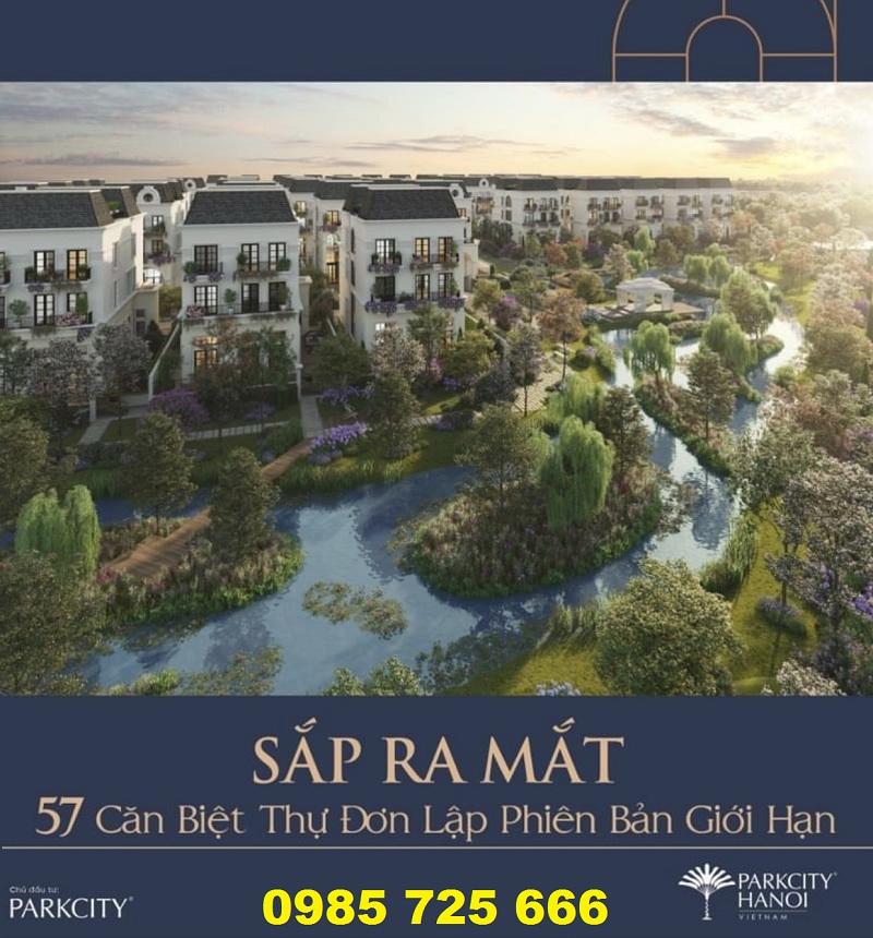 Ra mắt tiểu khu biệt thự Parc 57 Villas khu đô thị Park City Hà Đông
