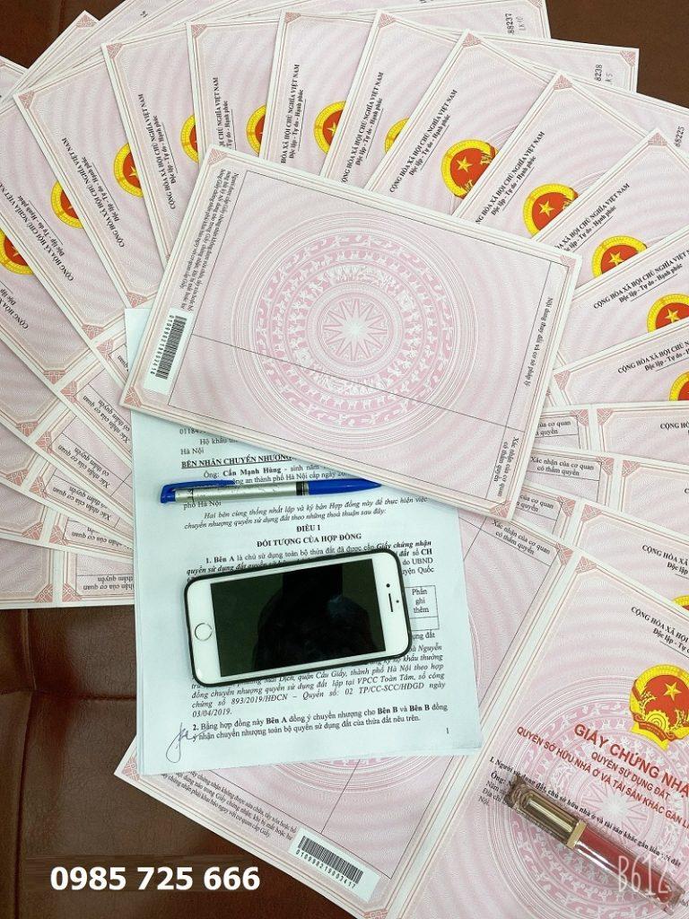 Sổ đỏ trao tay dự án Hòa Lạc Charm Villas 36 lô Đồng Chằm - Đông Xuân