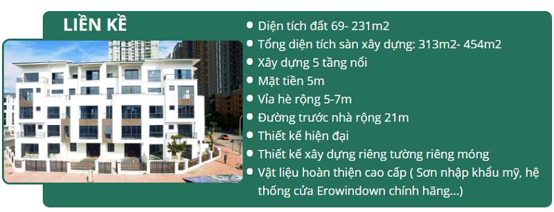 Thông tin chung liền kề dự án Hoàng Thành Villas Mỗ Lao