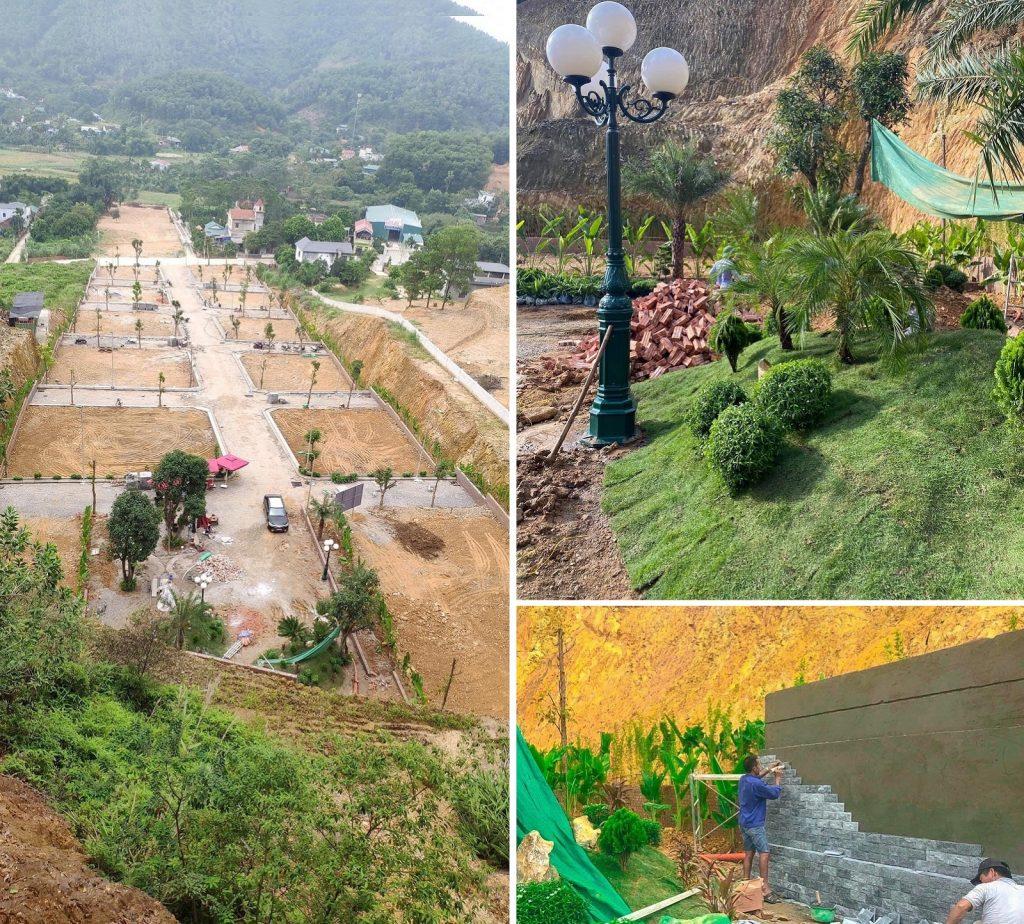 Tiến độ thi công dự án Hòa Lạc Charm Villas 36 lô Đồng Chằm - Đông Xuân