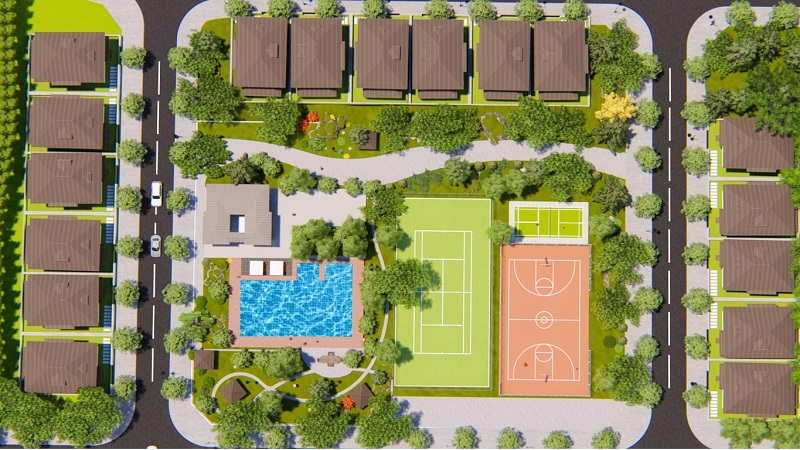 Tiện ích bể bơi khu dân cư Yên Thứ - Phổ Yên - Thái Nguyên