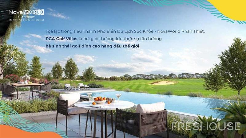 Tiện ích đỉnh cao PGA Golf Villa dự án Novaworld Phan Thiết - Bình Thuận