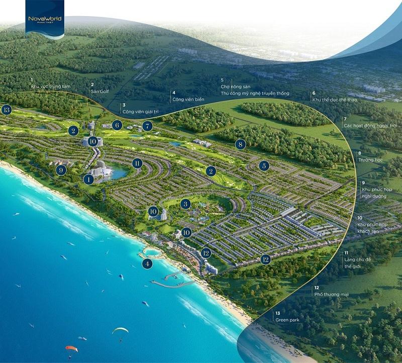 Tiện ích ngoại khu dự án Novaworld Phan Thiết - Bình Thuận