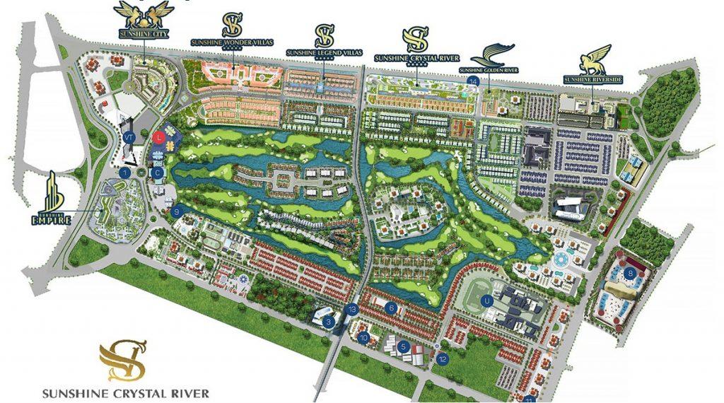 Vị trí dự án Sunshine Crystal River Ciputra