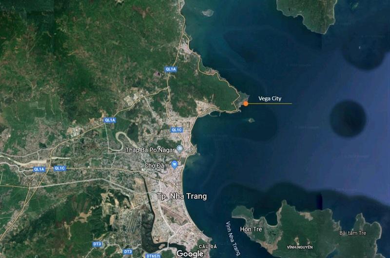 Vị trí Vega City Bãi Tiên - Nha Trang