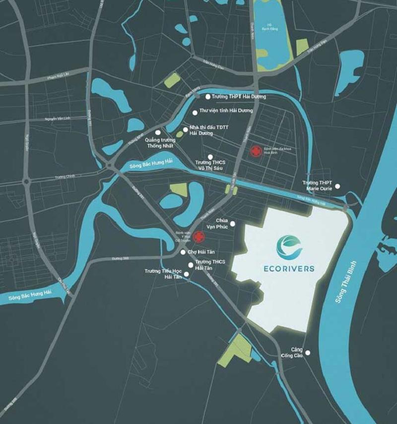 Vị trí khu đô thị Ecoriver Hải Dương (Ecopark)
