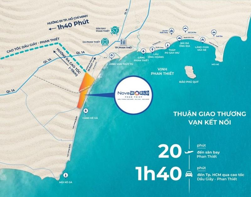 Vị trí dự án Novaworld Phan Thiết - Bình Thuận