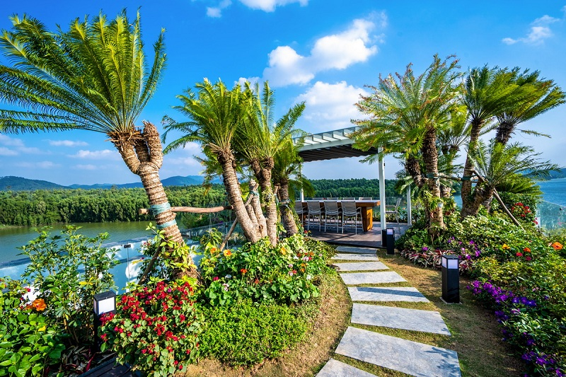 View dinh thự Legend Mansion Flamingo Đại Lải Resort