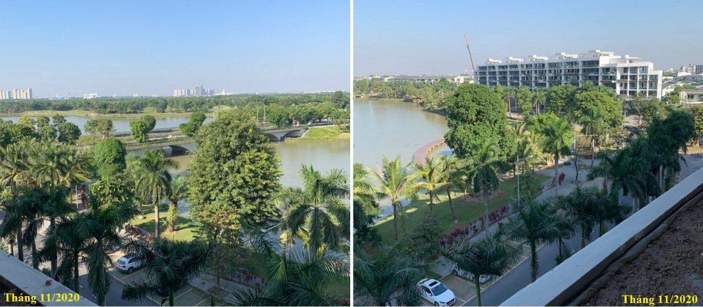Ảnh view thực tế 2 nhà phố triệu đô Shophouse Marina Arc Ecopark