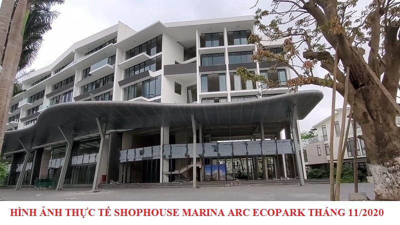 Hình ảnh thực tế 2 nhà phố Marina Arc Ecopark tháng 11/2020