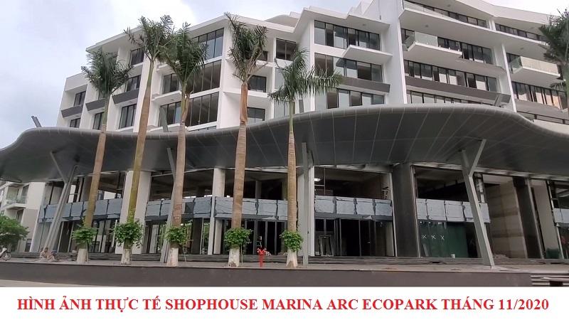 Hình ảnh thực tế nhà phố Marina Arc Ecopark tháng 11/2020