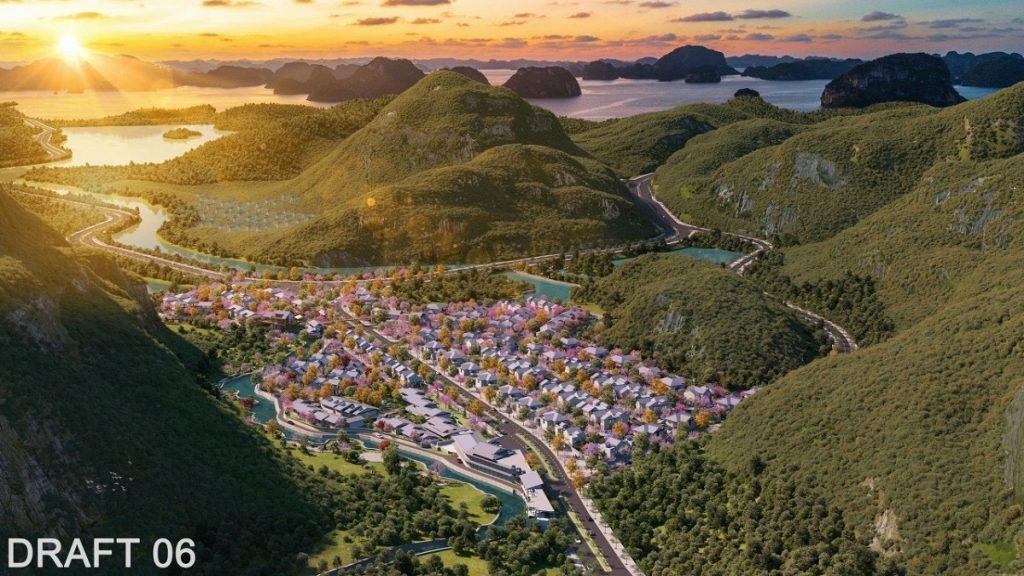 Phối cảnh dự án biệt thự nghỉ dưỡng khoáng nóng Sun Quang Hanh Yoko Onsen