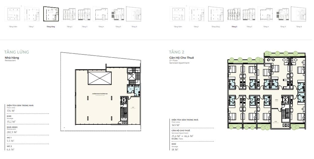 Thiết kế tầng lửng - 2 căn góc nhà phố triệu đô Shophouse Marina Arc Ecopark