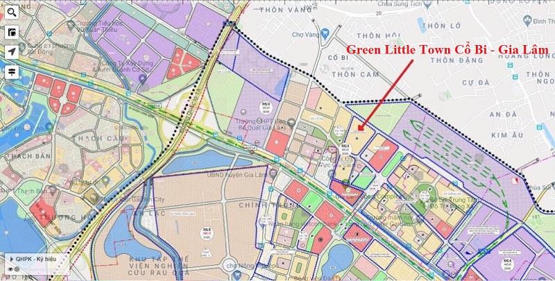 Vị trí dự án liền kề Green Little Town Cổ Bi - Gia Lâm