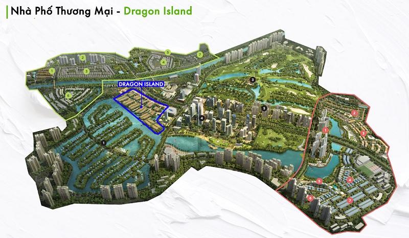Vị trí nhà phố Đảo Rồng Ecopark Dragon Island