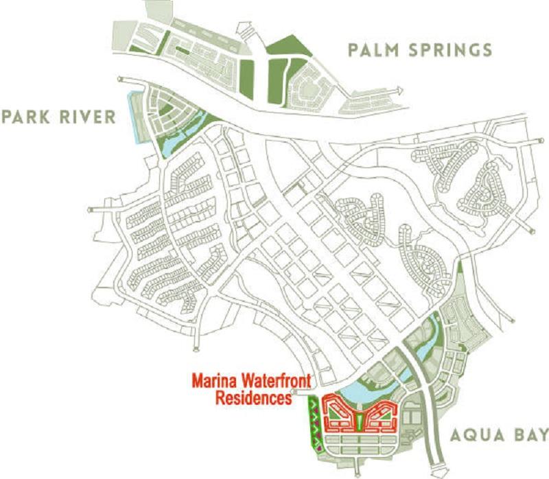 Vị trí tiểu khu Marina Bay và nhà phố triệu đô Shophouse Marina Arc Ecopark