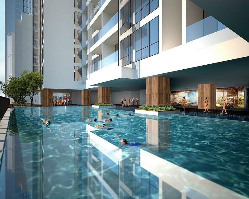 Bể bơi chung cư BRG Diamond Residence 25 Lê Văn Lương