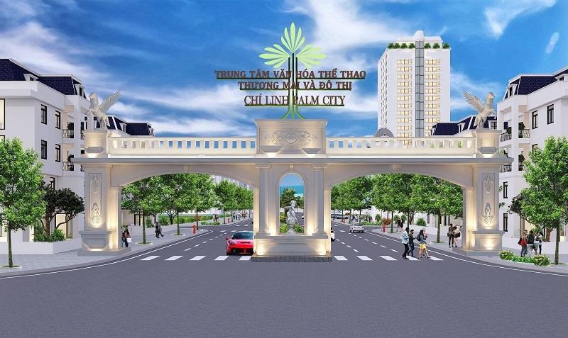 Cổng dự án Chí Linh Palm City - Trường Linh Hải Dương