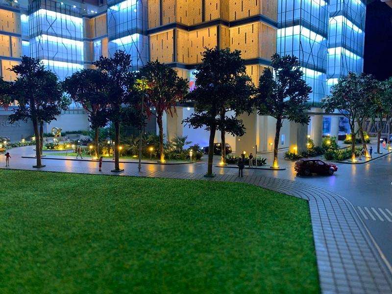 Đường nội bộ chung cư BRG Diamond Residence 25 Lê Văn Lương
