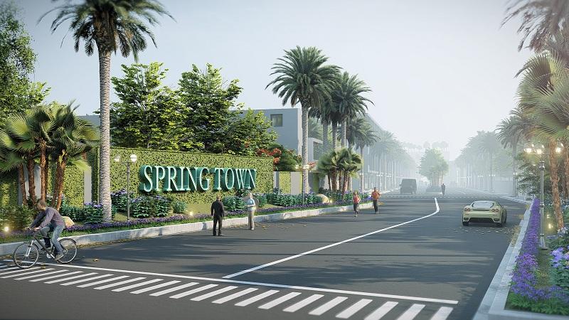 Đường vào dự án The Spring Town Xuân Mai - Hòa Lạc