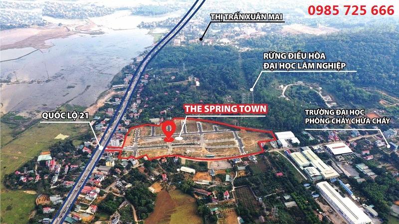 Flycam Spring Town Xuân Mai