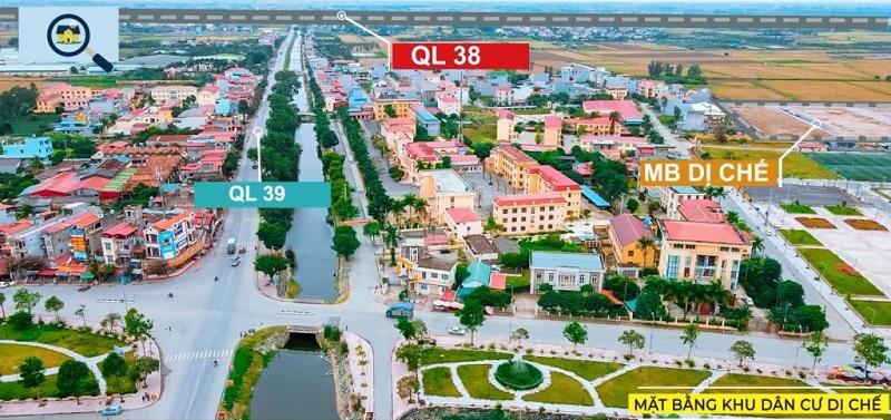 Flycam khu đấu giá Dị Chế - Tiên Lữ - Hưng Yên