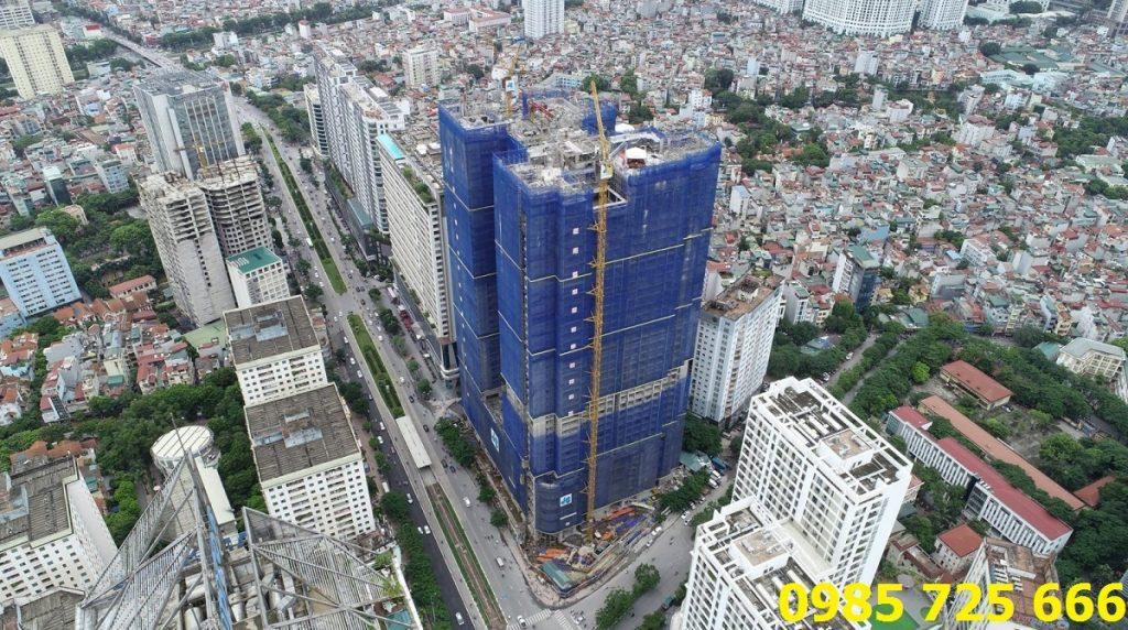 Flycam tiến độ dự án chung cư BRG Diamond Residence 25 Lê Văn Lương