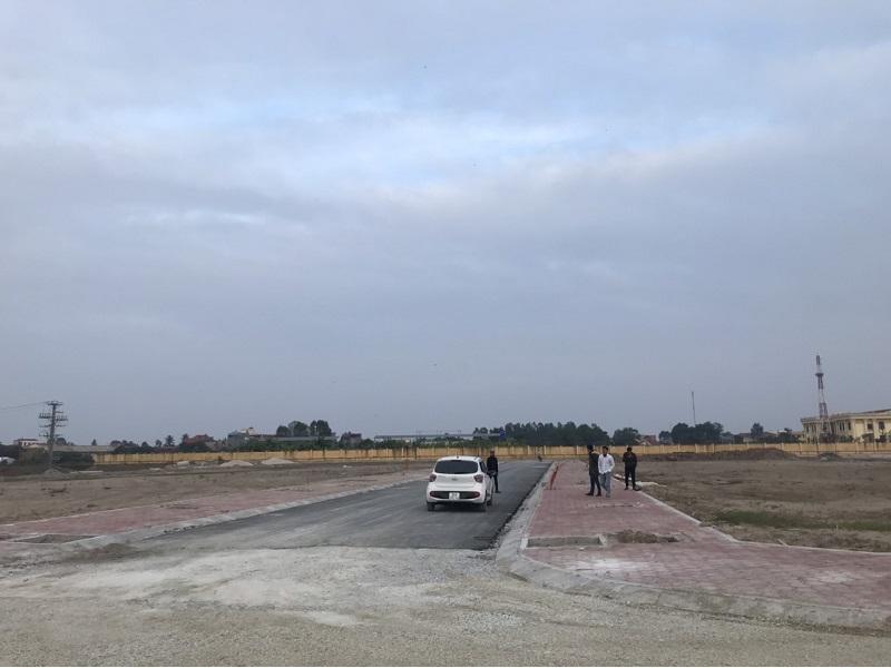 Hình ảnh thực tế hạ tầng 1 khu đấu giá Dị Chế - Tiên Lữ - Hưng Yên