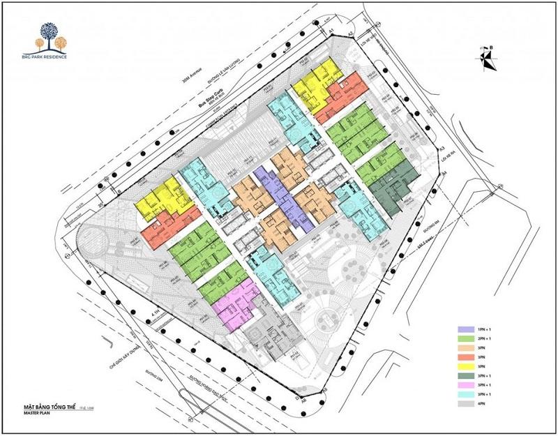 Mặt bằng điển hình chung cư BRG Diamond Residence 25 Lê Văn Lương