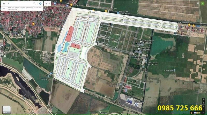 Vị trí khu đấu giá Thôn Đông Yên - Đông Phong - Yên Phong - Bắc Ninh