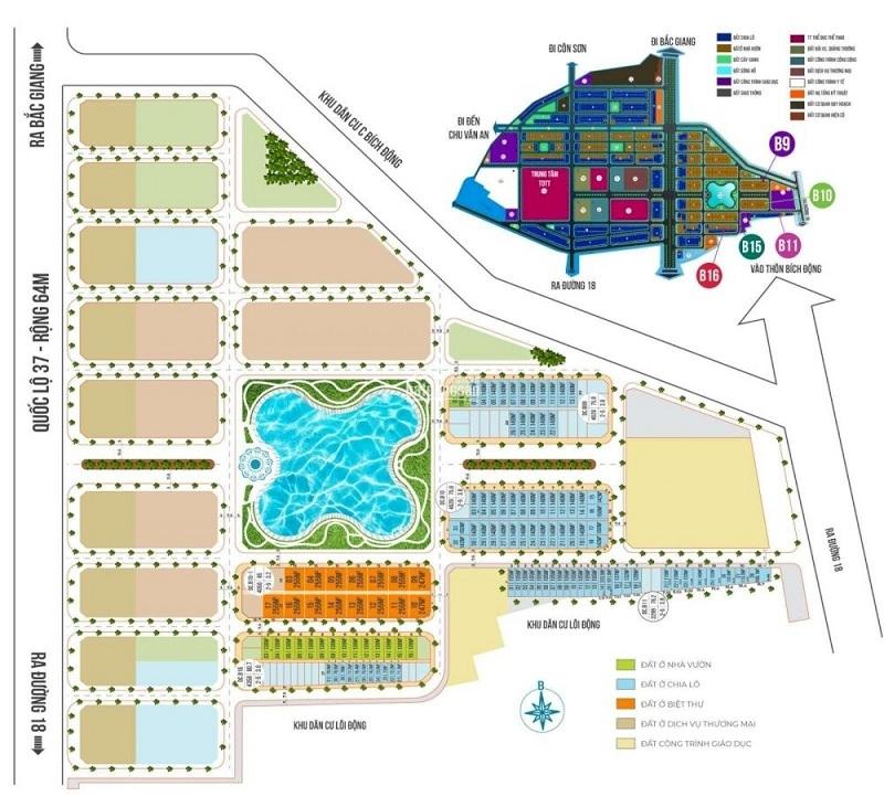 Mặt bằng phân lô dự án Chí Linh Palm City - Trường Linh Hải Dương