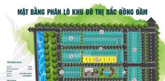 Mặt bằng phân lô dự án khu dân cư Bắc Đồng Đầm - Tiền Hải - Thái Bình