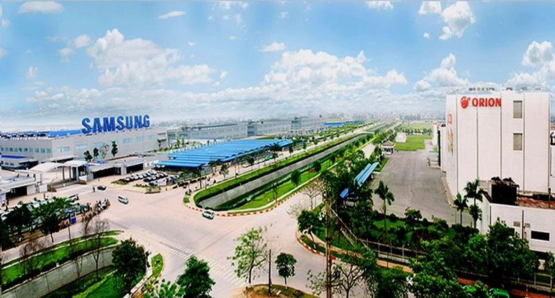 Nhà máy Samsung trong công nghiệp Yên Phong - Bắc Ninh