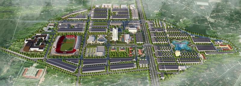 Phối cảnh 2 dự án Chí Linh Palm City - Trường Linh Hải Dương